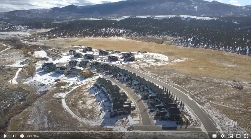 2020 01 Mountain Gatway Vail Valley Drone flight